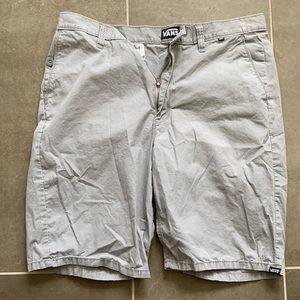 Vans grey shorts size 32